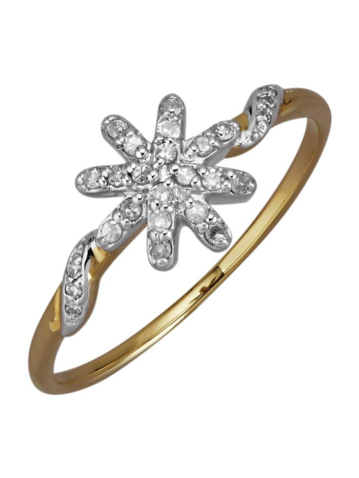 AMY VERMONT Damenring mit Diamanten, Gelbgoldfarben
