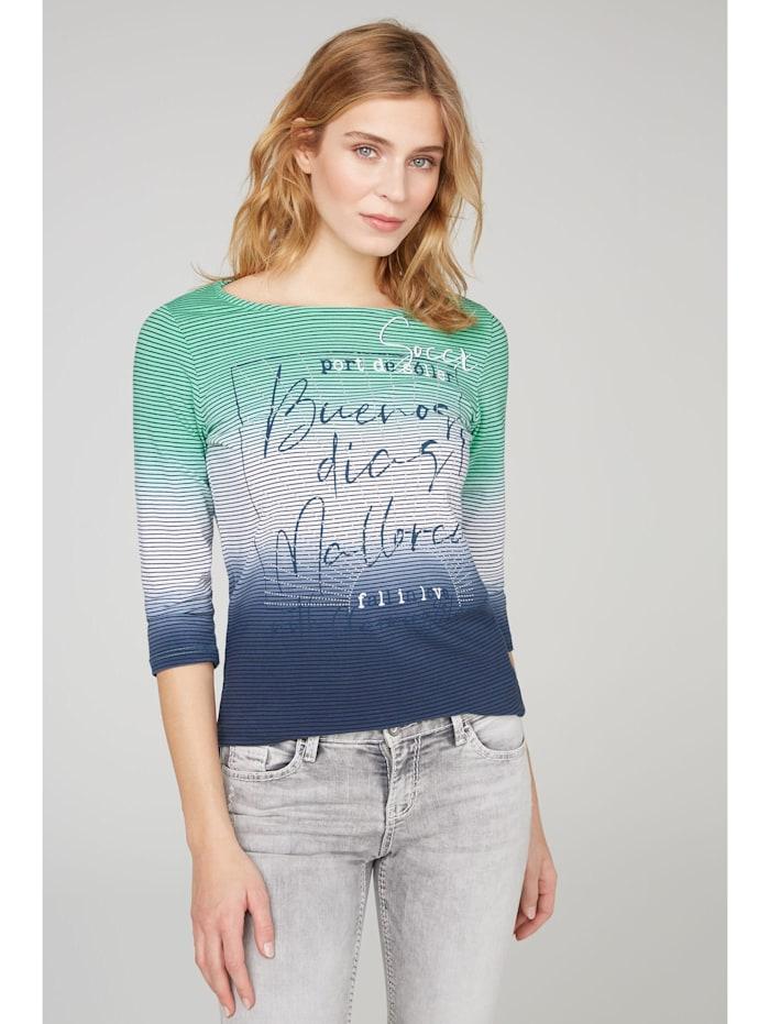 SOCCX Streifenshirt mit Dip-Dye-Effekt, juicy green