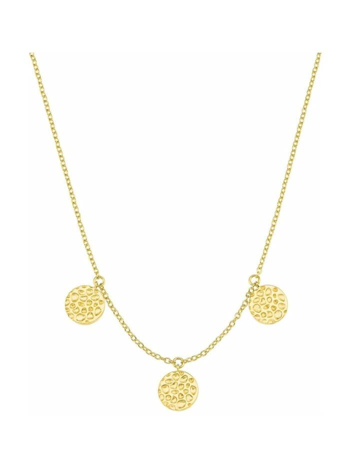 s.Oliver Halskette für Damen, 925 Sterling Silber vergoldet, Gold