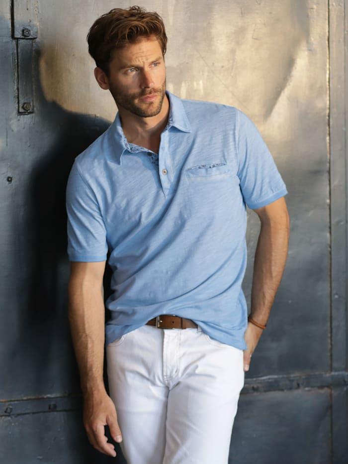 BABISTA Poloshirt met gedessineerde details, Lichtblauw