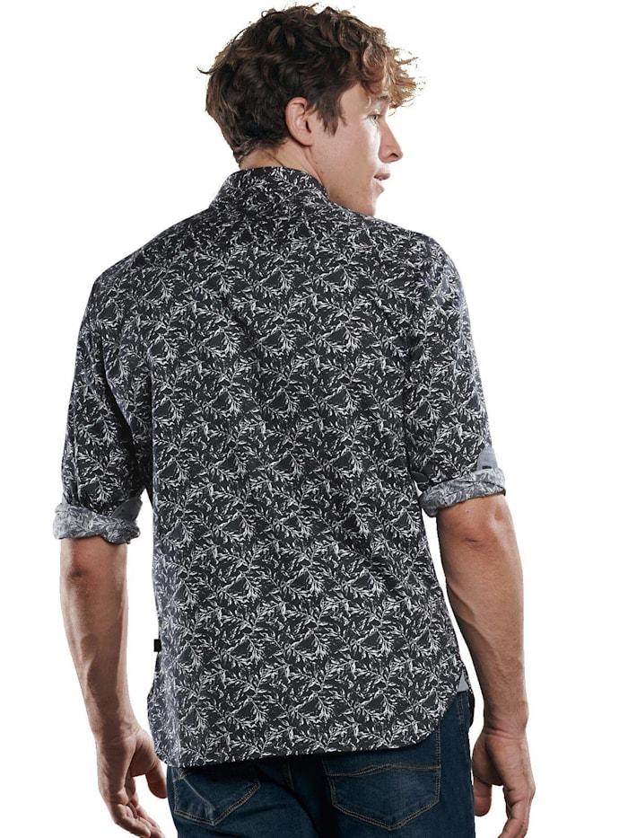 Langarmhemd mit floralem Muster