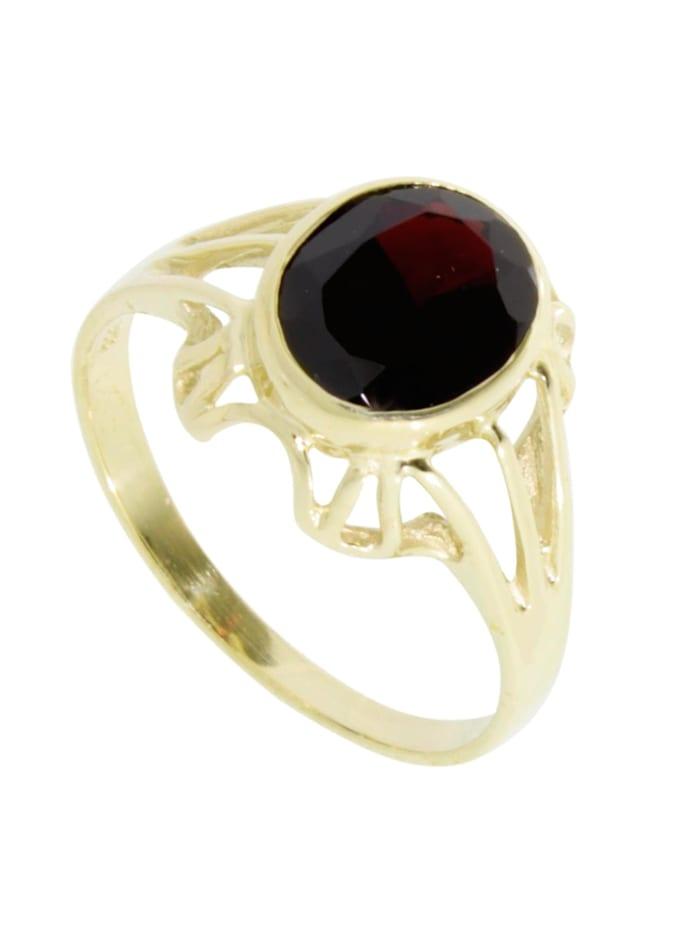 OSTSEE-SCHMUCK Ring - Maline - Gold 333/000 - Granat, gold