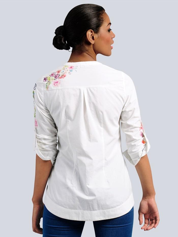 Bluse mit Alba Moda exklusivem Stickereimotiv