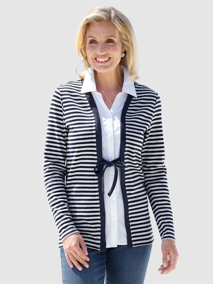 2i1-jakke med bluseinnfelling