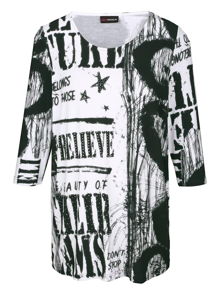 Shirt met trendy print rondom