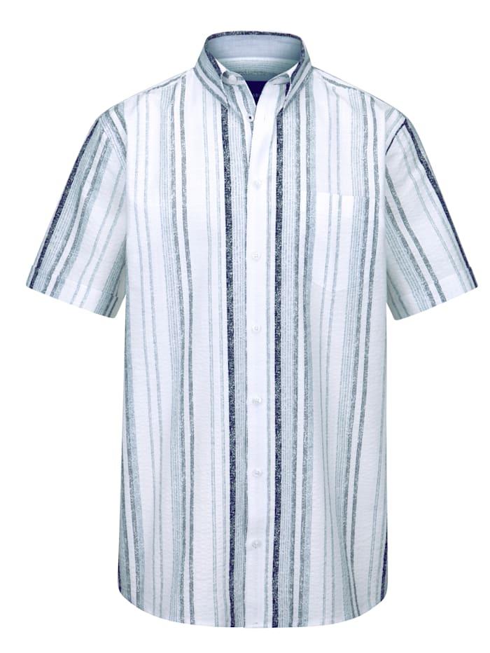 BABISTA Kreppskjorte i ren bomull, Hvit/Grå