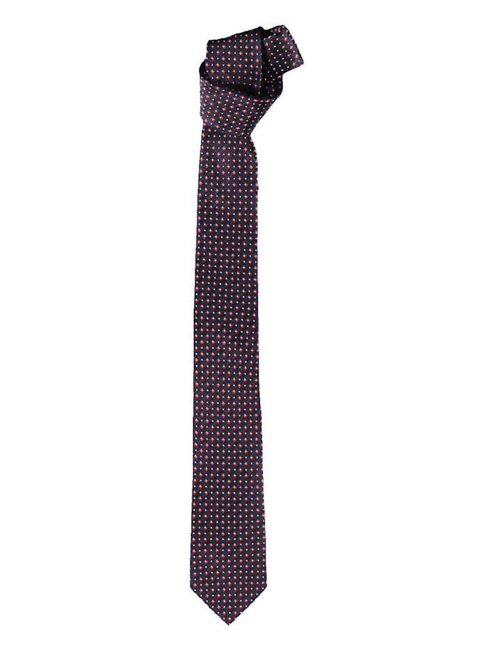 Engbers Krawatte mit edlem Minimalmuster, Saphirblau