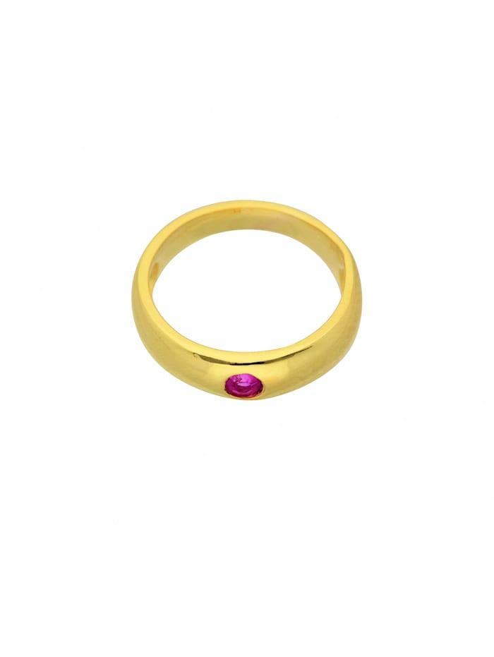 1001 Diamonds Damen Goldschmuck 333 Gold Anhänger Taufring mit Rubin Ø 11,2 mm, rot