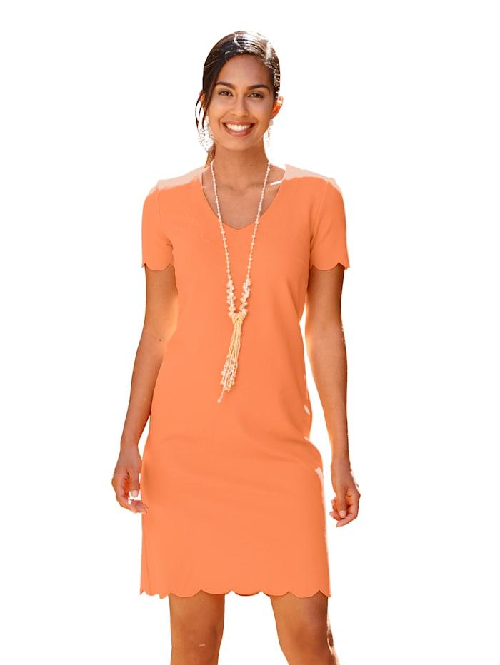 AMY VERMONT Kleid mit Wellenkante am Saum, Orange