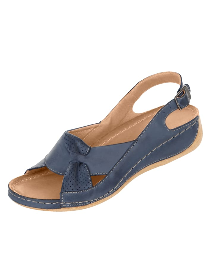Naturläufer Sandals with a stylish strap, Blue