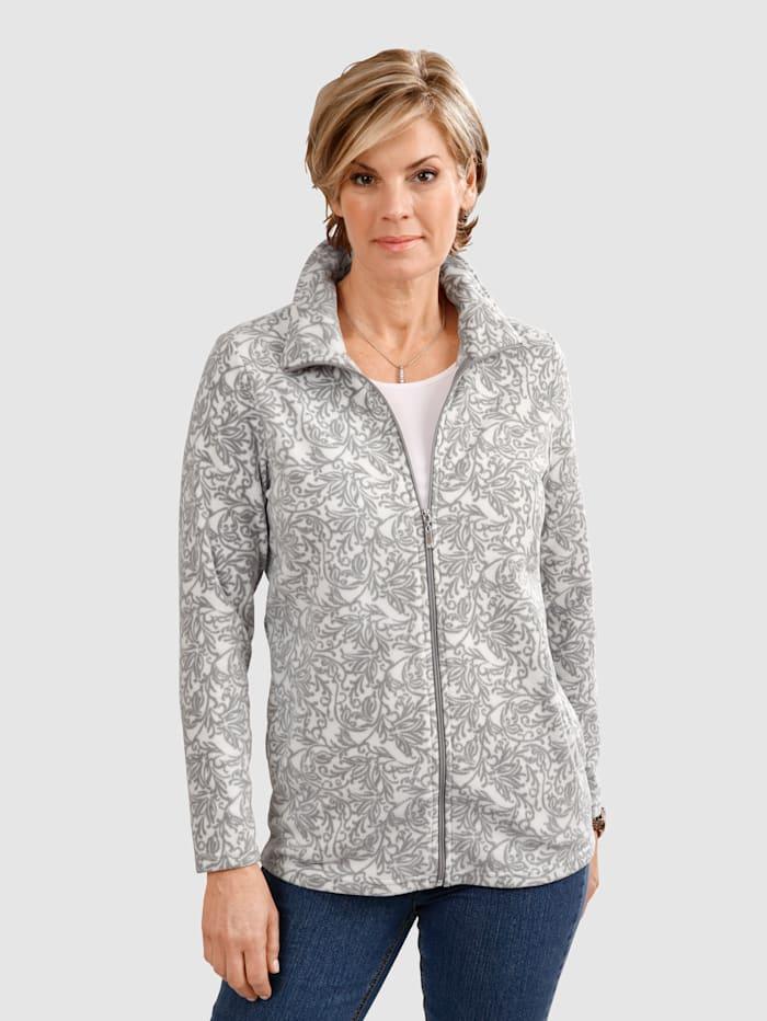 Fleece vest met dessin rondom