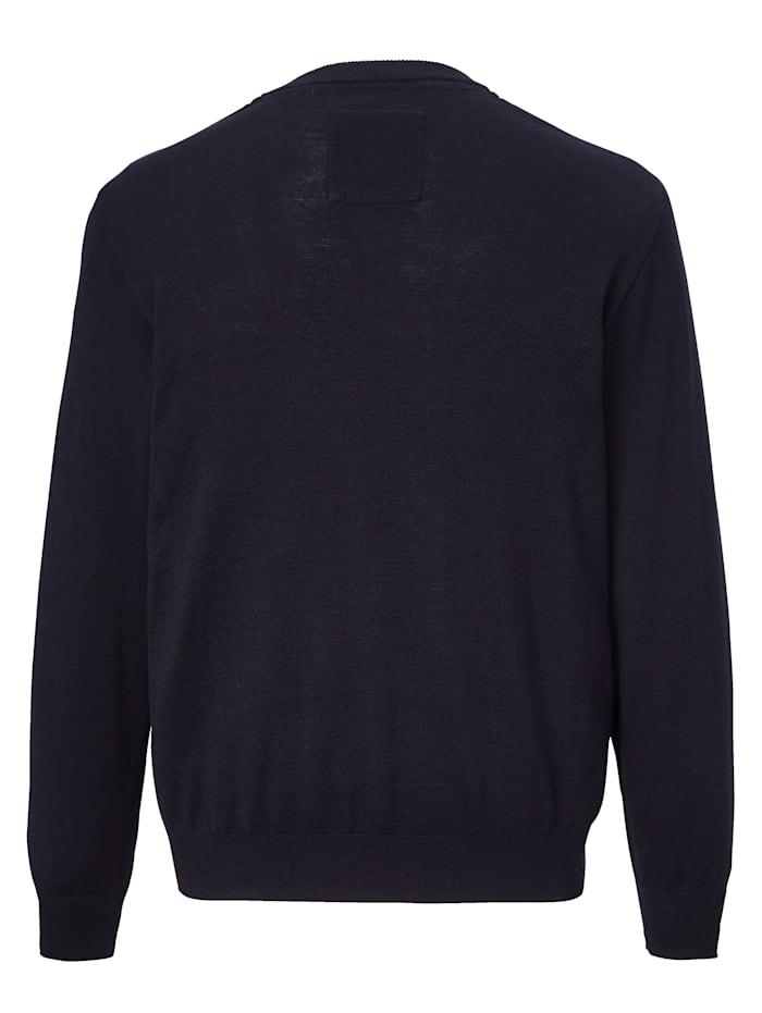 Finstickad tröja i lättskött material av bomull och polyakryl