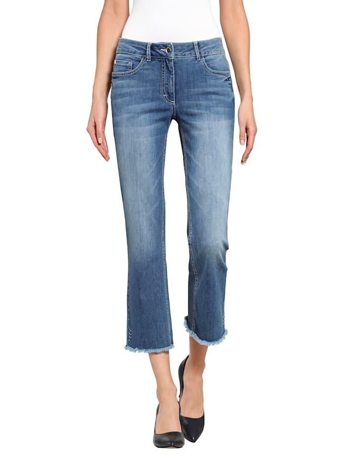 Alba Moda Jeans mit Nieten-Details, Blue stone