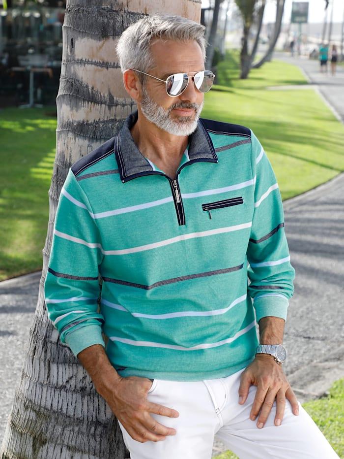 BABISTA Sweatshirt met tweekleurige strepenpatroon, Mint
