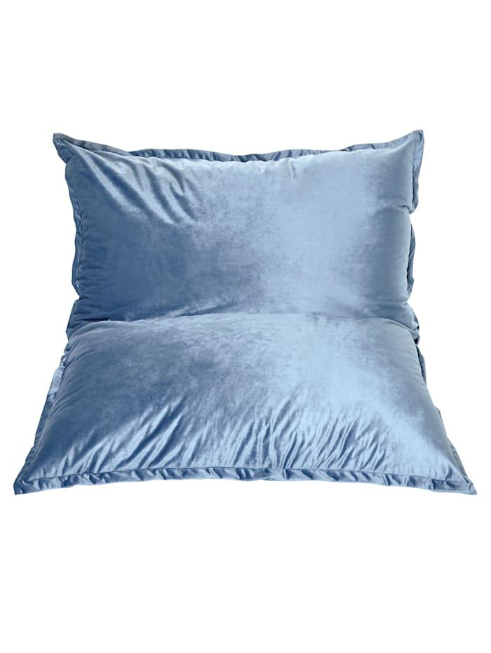 IMPRESSIONEN living Sitzsack XXL, Samt, 140x120 cm, blau