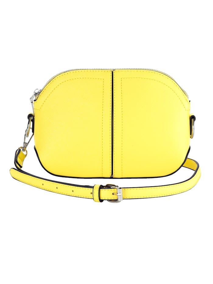 Collezione Alessandro Umhängetasche aus strukturiertem Softmaterial, gelb