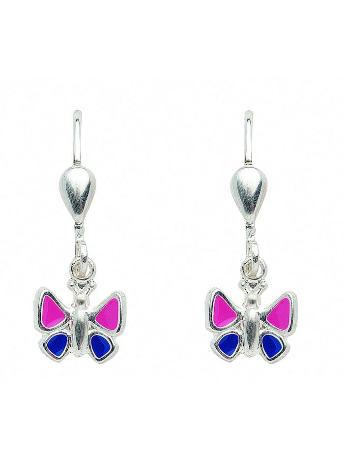 1001 Diamonds Damen Silberschmuck 925 Silber Ohrringe / Ohrhänger Schmetterling, silber