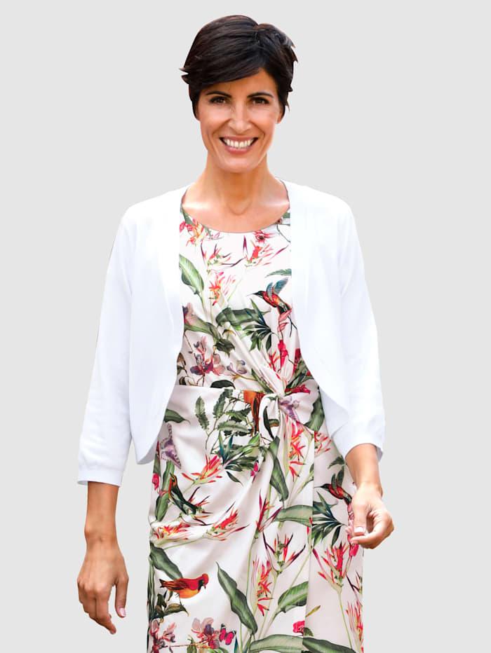 Paola Strikket bolero i åpen modell, Hvit
