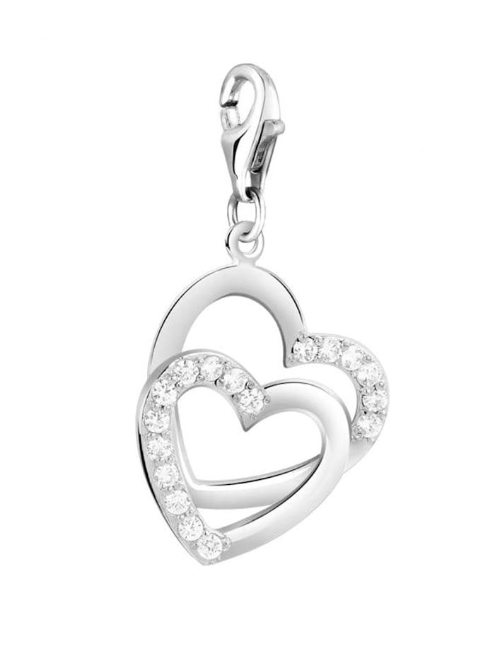 Charm Herz Anhänger Zirkonia 925 Sterling Silber