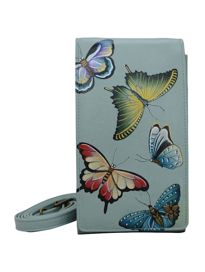 ANUSCHKA Brieftasche Heaven aus handbemaltem Leder, mehrfarbig