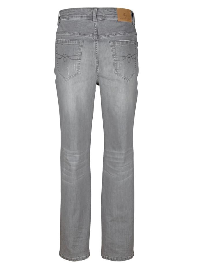 Jeans met destroyed effecten