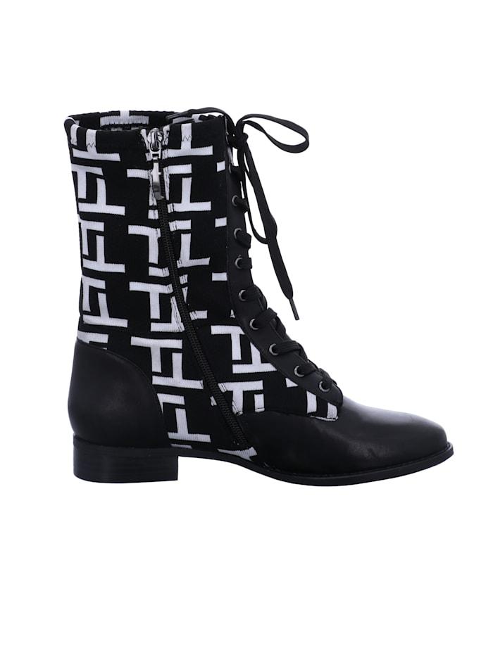 Tizian Damen-Stiefel Dallas 1 10, schwarz-weiss