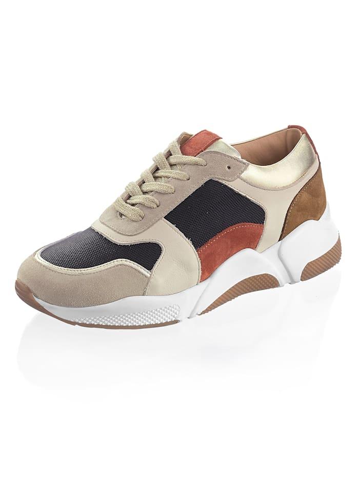 Alba Moda Sneaker in harmonischer Farbigkeit, Beige/Schwarz