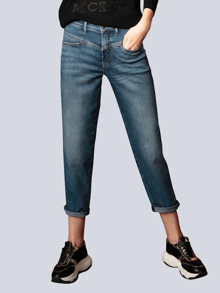 CAMBIO Jeans mit leichter Waschung, Blue bleached