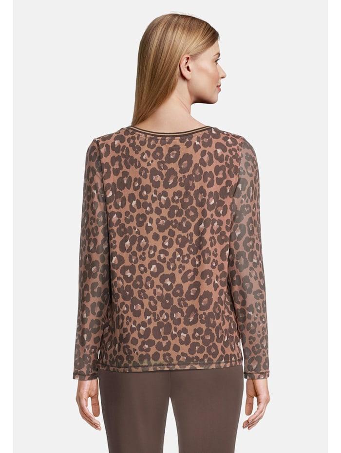 Mustermix-Shirt mit Animalprint