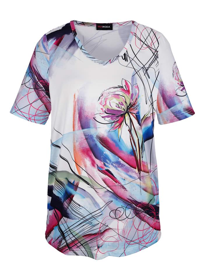 Shirt mit grafischem Blumenmotivdruck
