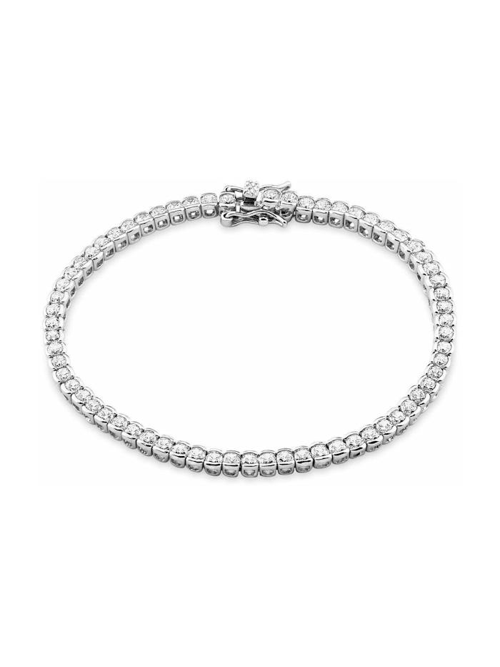 amor Tennisarmband für Damen, Sterling Silber 925, Zirkonia, Silber