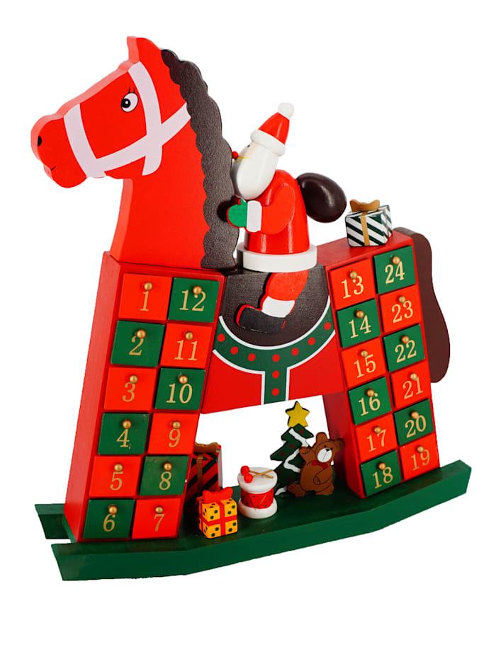 Casamaxx Adventskalender 'Schaukelpferd', Rot