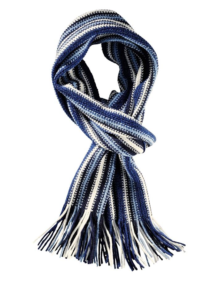 BABISTA Schal mit modischem Streifenmuster, blau-marine-wollwe