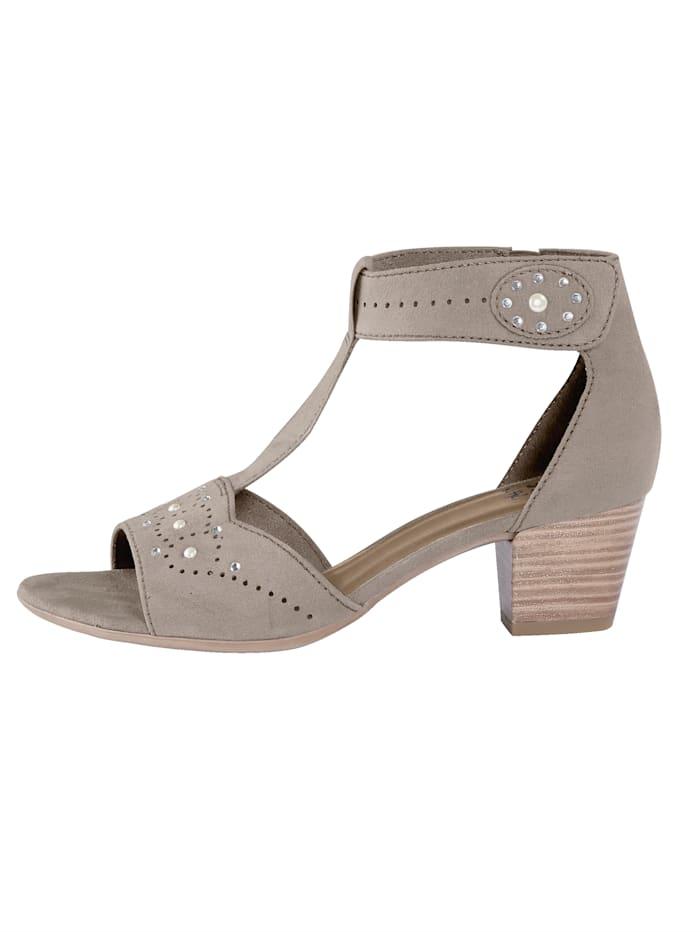 Sandaaltje met klittenband bij de enkel