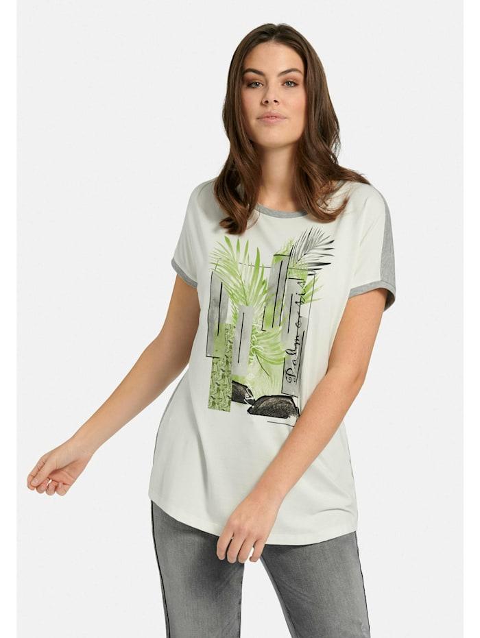 Shirt Rundhals-Shirt Ton-in-Ton-Nähte
