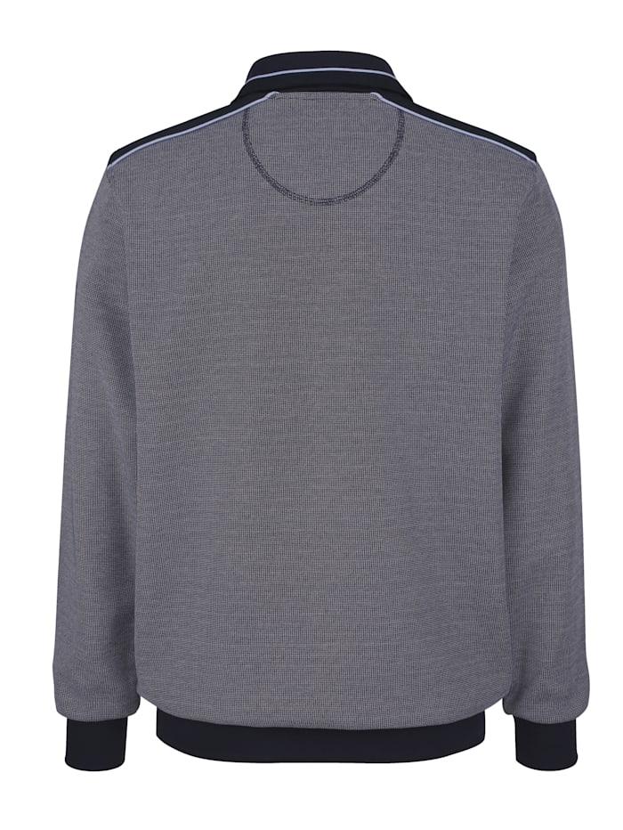 Sweatshirt mit Webbesätzen in Kontrast