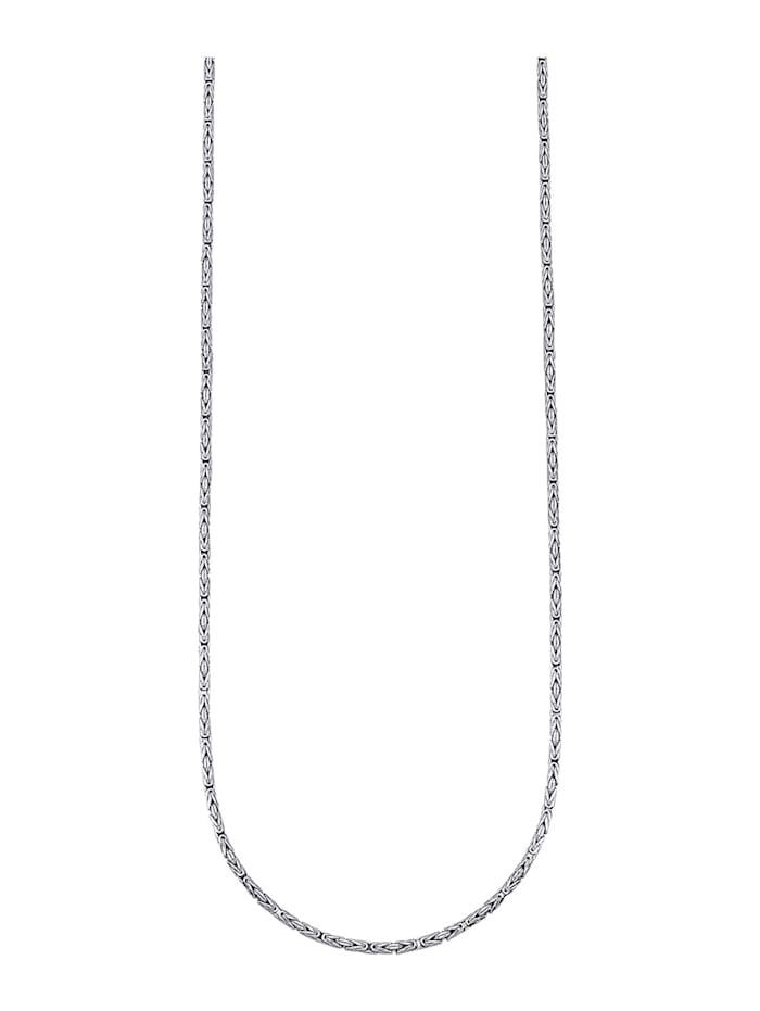 Königskette in Gelbgold 375, Weiß