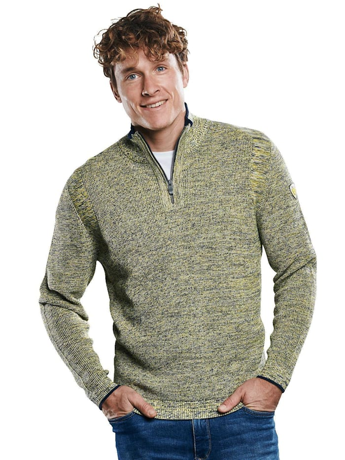 Engbers Troyer Pullover mit Stehkragen, Maisgelb