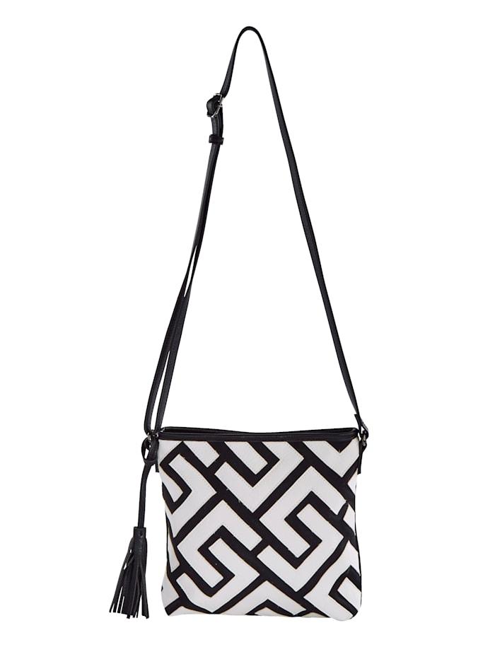 SURI FREY Umhängetasche in farbenfroher Optik, schwarz/weiß