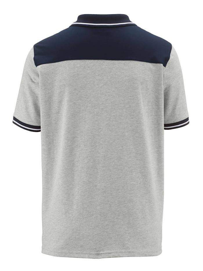 Poloshirt Mit Kontrastkragen und Druck