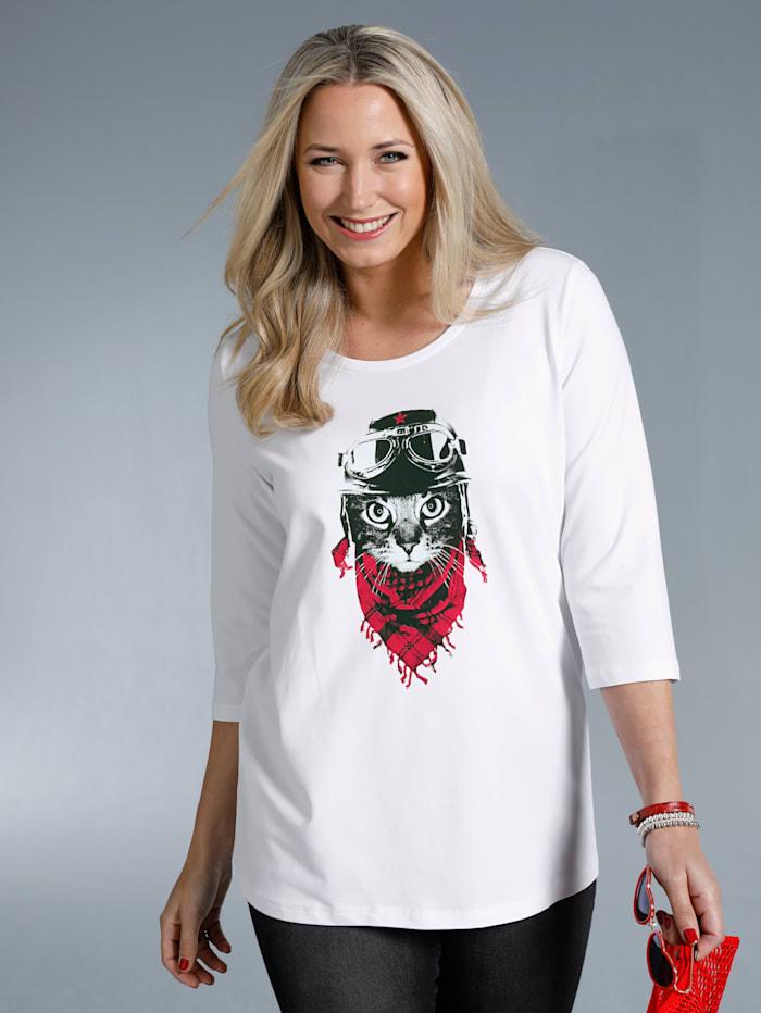 Shirt met opvallend kattenmotief