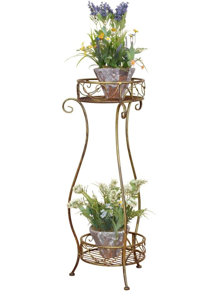 Möbel-Direkt-Online Blumenständer Cindy, goldfarben