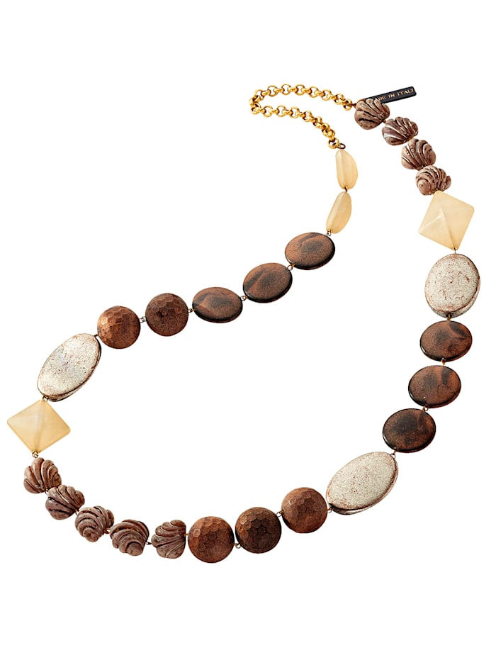 KLiNGEL Halskette in naturtönen, Braun