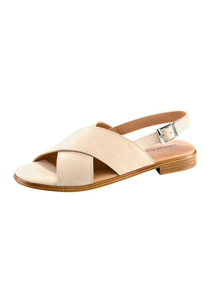 Sandales à jolies brides croisées, Beige