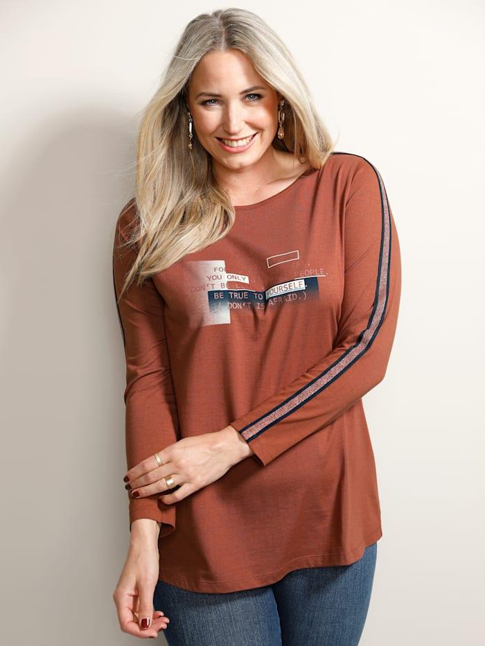 MIAMODA Shirt mit Druck im Vorderteil, Rost/Rot