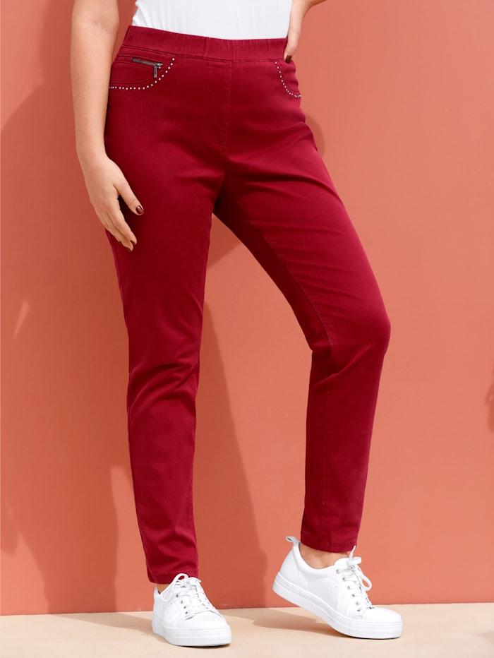 MIAMODA Jegging avec détail mode aux poches fantaisie, Rouille