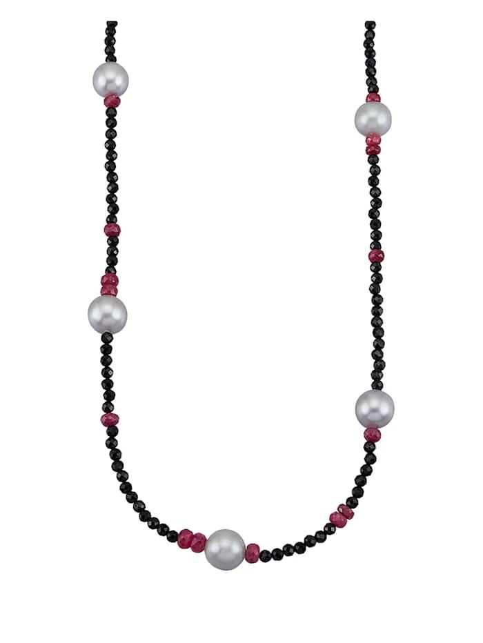 Diemer Farbstein Halskette aus Spinell, Multicolor
