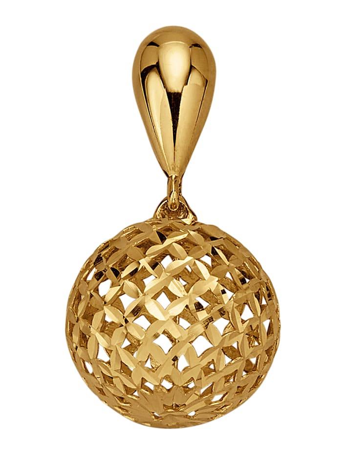 Diemer Gold Hanger Bol van 14 kt. goud, Geelgoudkleur