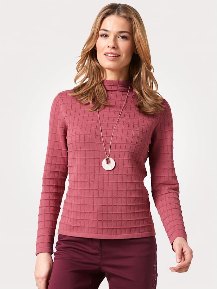 MONA Pullover aus Pima-Baumwolle, Granatrot