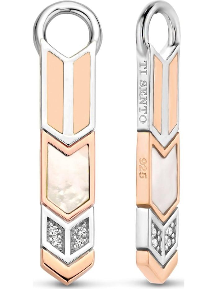 Ti Sento Milano Ti Sento - Milano Damen-Ohrringe 925er Silber Zirkonia, silber/weiß